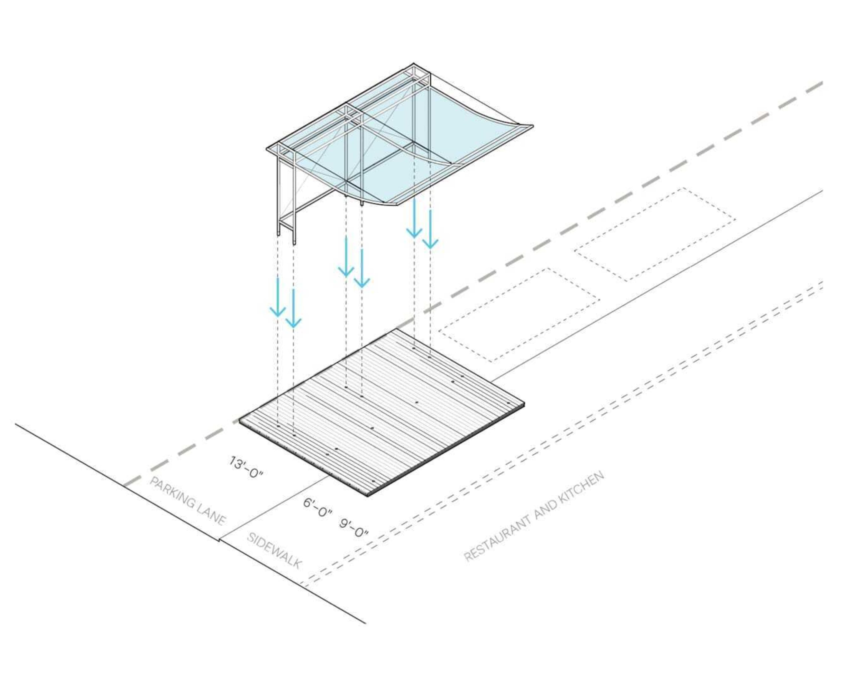 Street dining pavilion 2